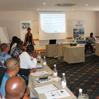 NSI's Chief Executive Officer, Chie Wasserfall, opens the workshop